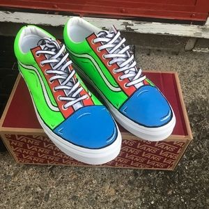 Custom hand painted cartoon vans